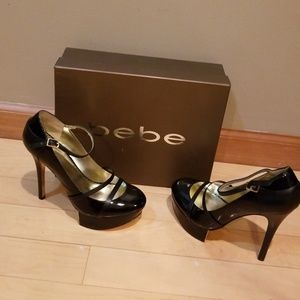 👠💄🕶bebe 🕶💄👠 size 8 black high heels